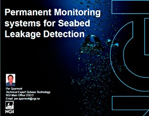 Franatech - Permanent Monitoring systems for Seabed Leakage Detection